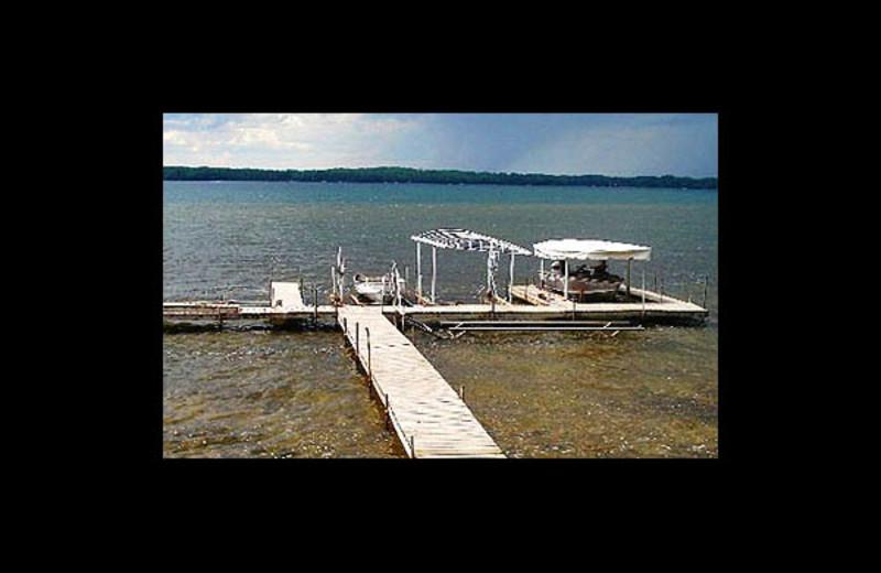 Dock at Lakeview Resort on Grindstone.