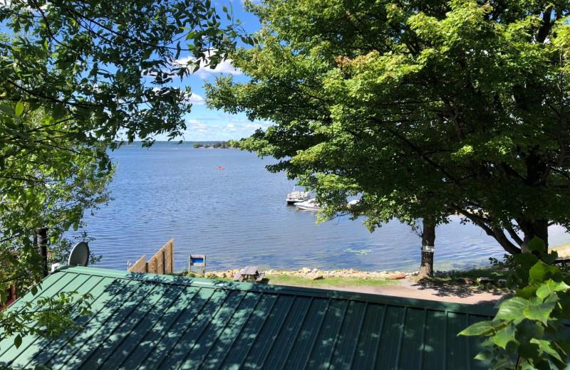 Lake view at Riverbay Adventure Inn.