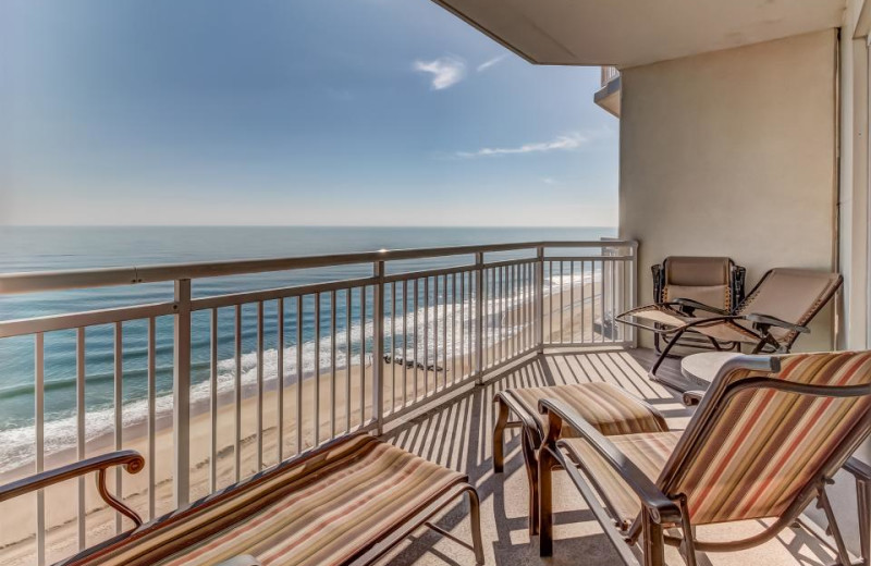 Rental balcony at Vacasa Ocean City.