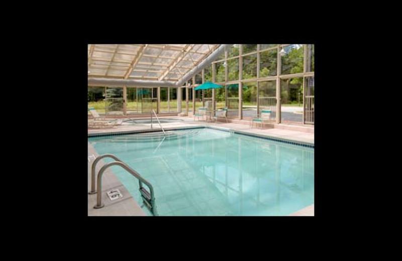 Indoor pool at Baymont InnSuites Bridgeport.