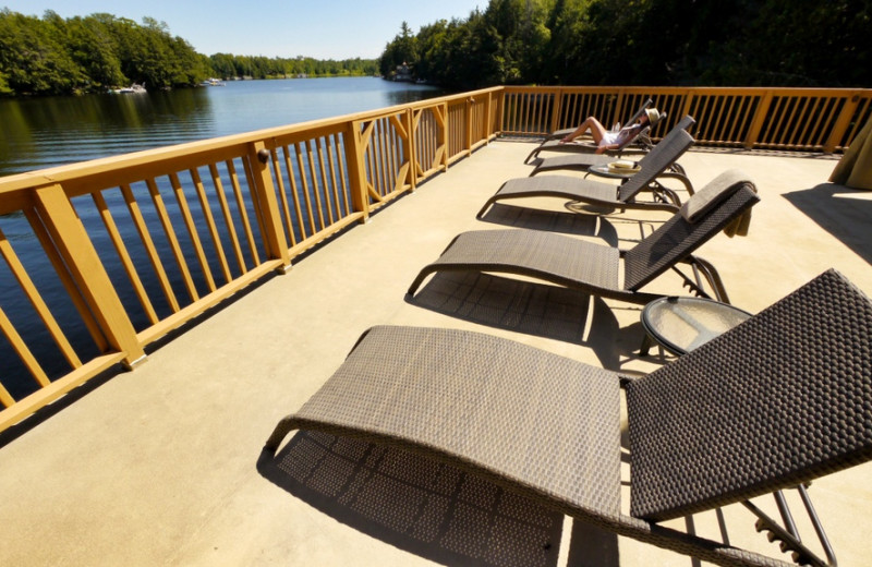 Rental deck at CottageVacations.com.