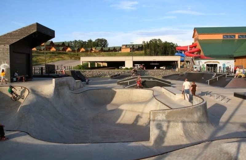 Skate park at Three Bears Lodge.