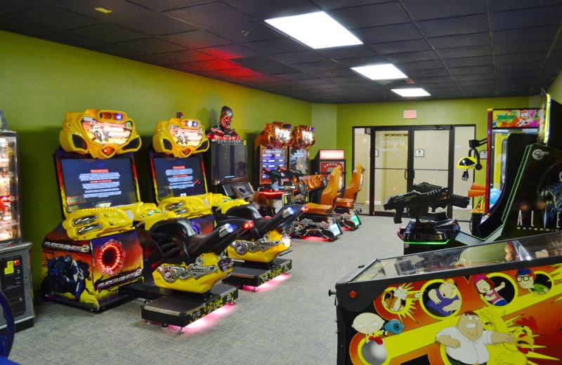 Video arcade at Rosen Inn.