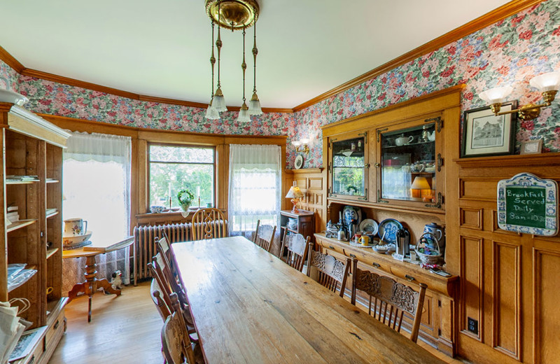 Dining room at White Lace Inn.