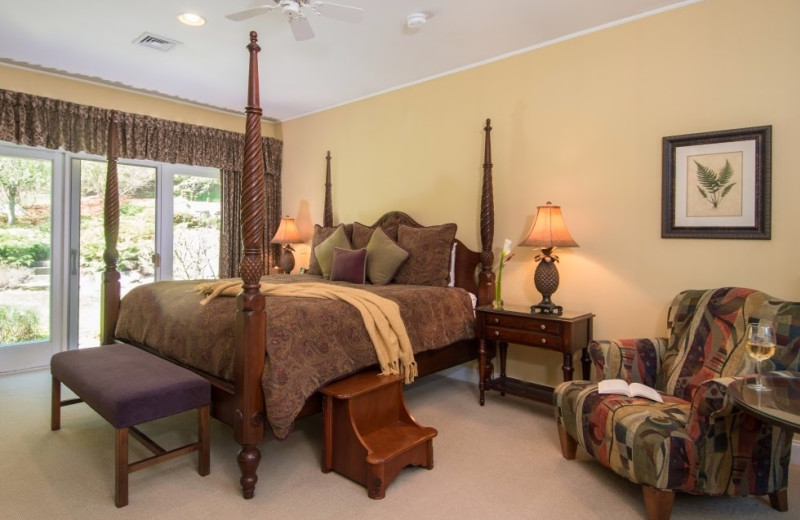 Guest room at Stone Hill Inn.