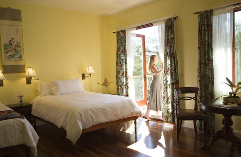 Guest room at Hawaii Island Retreat.