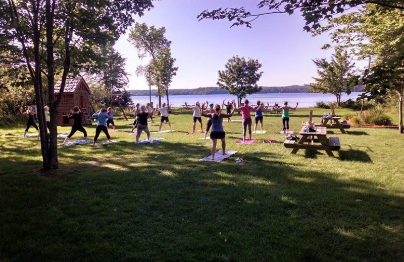 Yoga at Four Seasons - The Staudemeyer's.