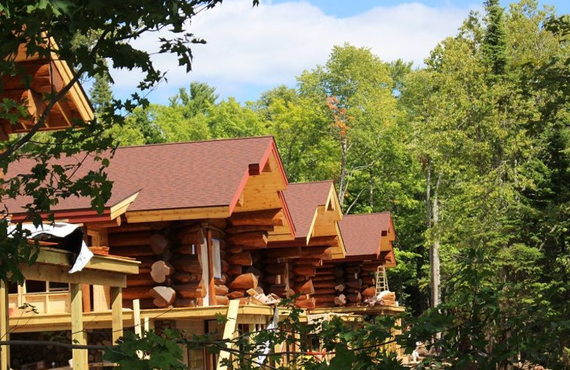 Cabin exterior at Aqua Log Cabin Resort.