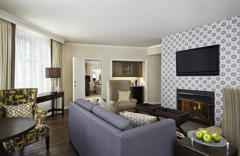 Guest suite at The Algonquin Resort St. Andrews by-the-Sea, Autograph Collection.
