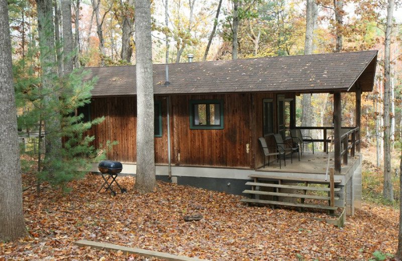Cabin at Montfair Resort Farm nestled in the foothills of the Blue Ridge Mountains