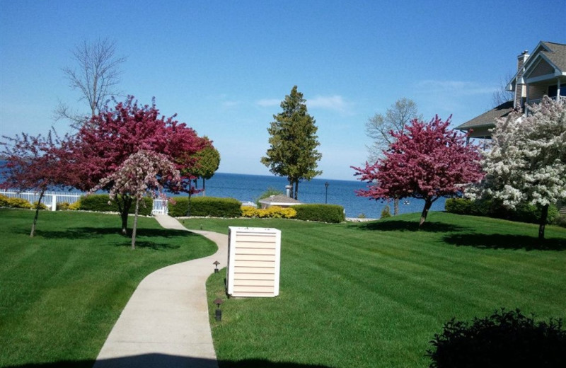 Path to lake at Westwood Shores Waterfront Resort.