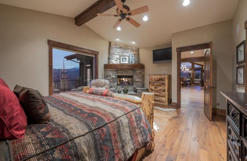 Rental bedroom at Lakeside Resort Properties.