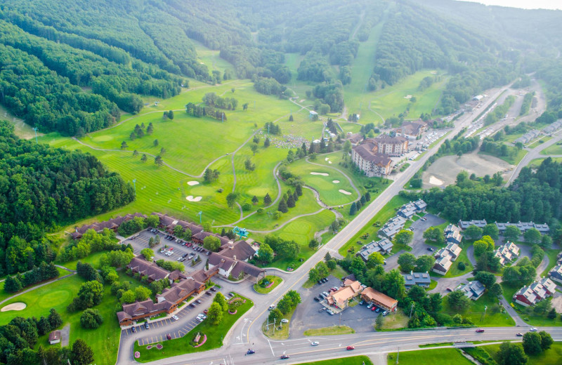 Aerial view of Holiday Valley Resort.