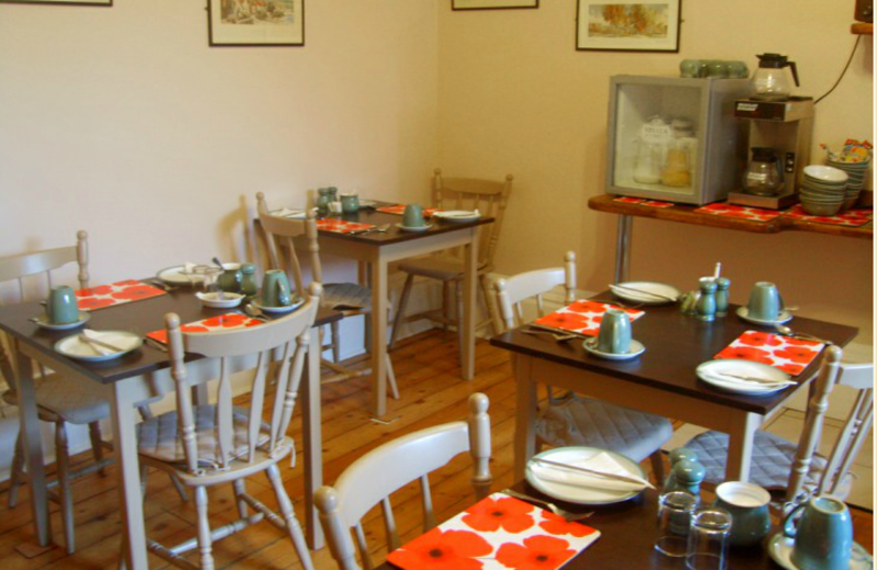 Dining at  Moorgarth Guest House.