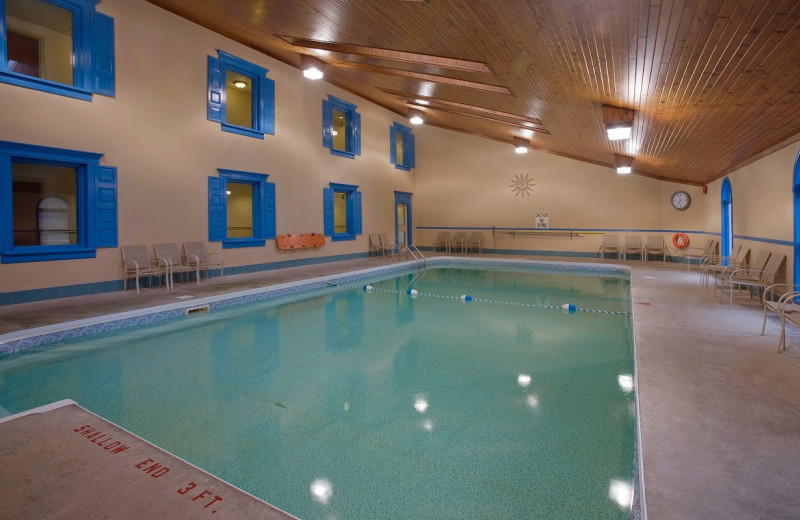 Indoor pool at Clarion Inn & Conference Centre.