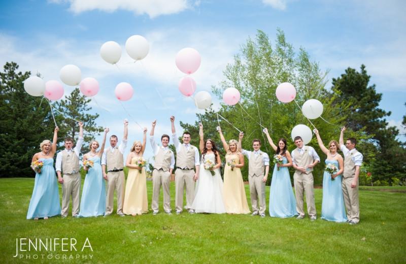 Wedding party at Fair Hills Resort.