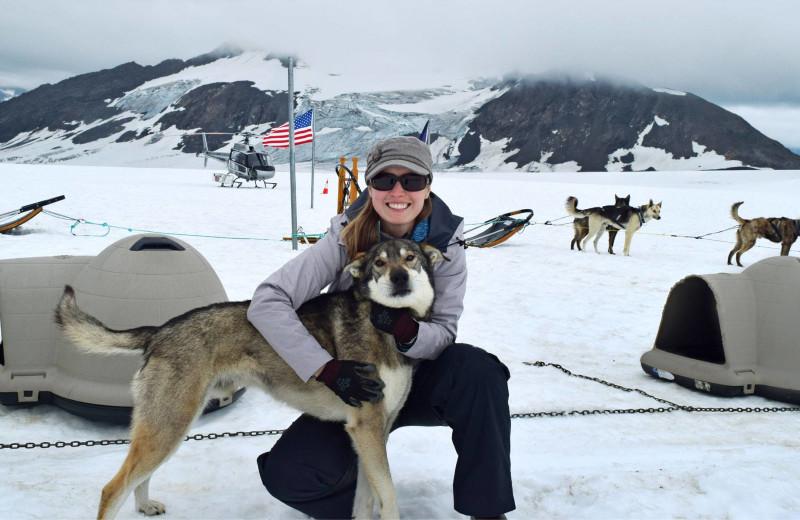 Dog sledding at The Alaska Adventure Company.