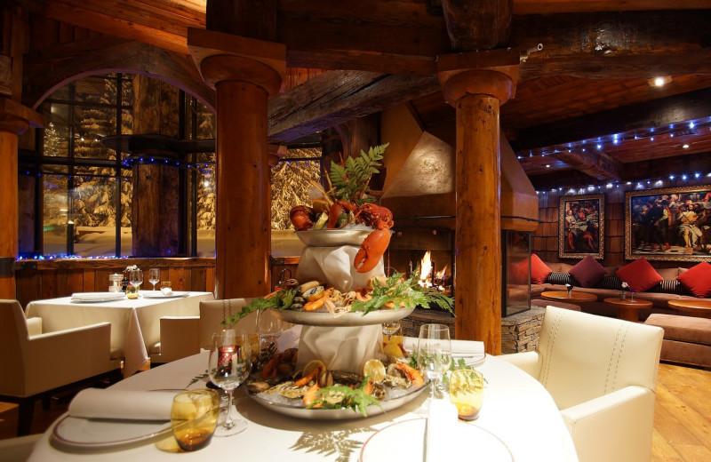 Dining at Byblos des Neiges.