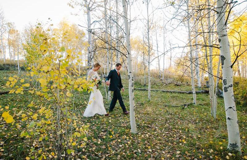 Wedding Couple at Chipeta Solar Springs Resort