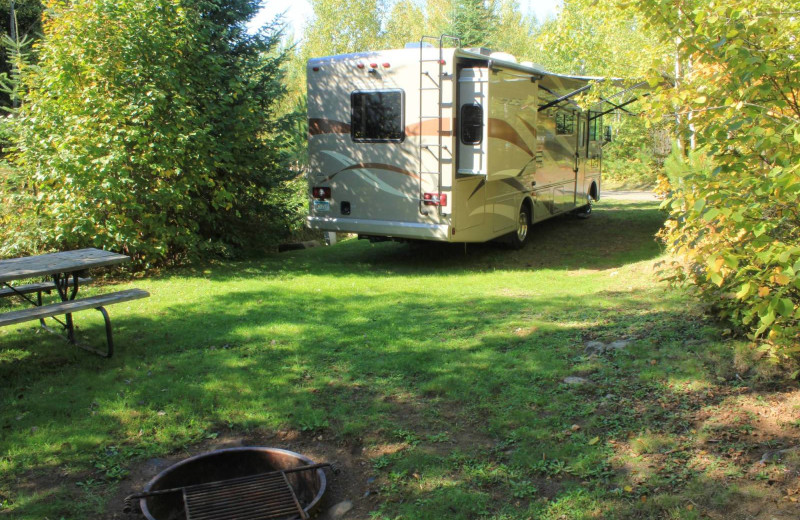 RV campsite at Golden Eagle Lodge.