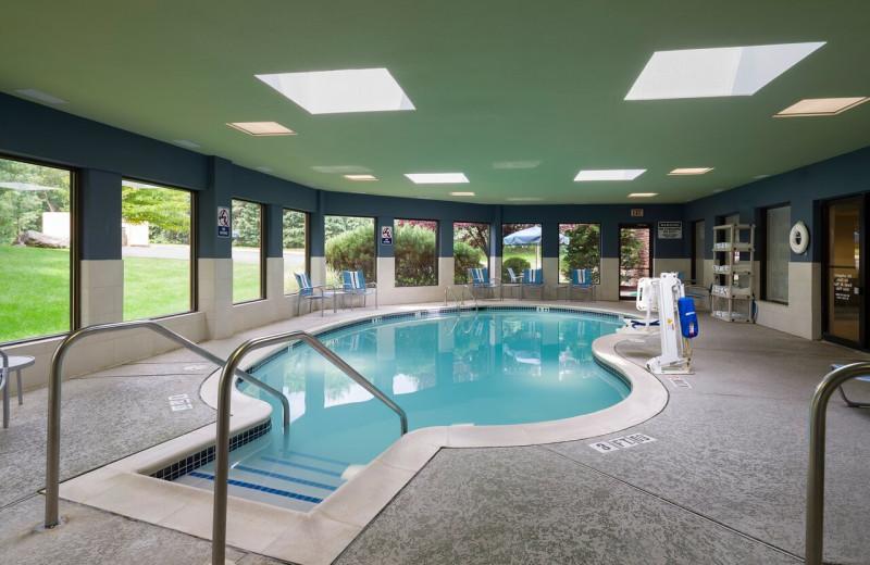 Indoor pool at Holiday Inn Express Hershey.