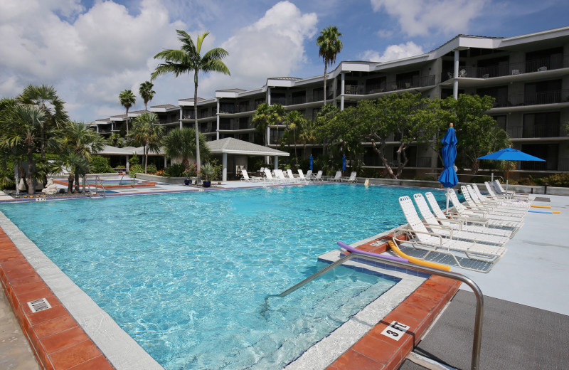 Outdoor pool at 1800 Atlantic, All Florida Keys Property Management.