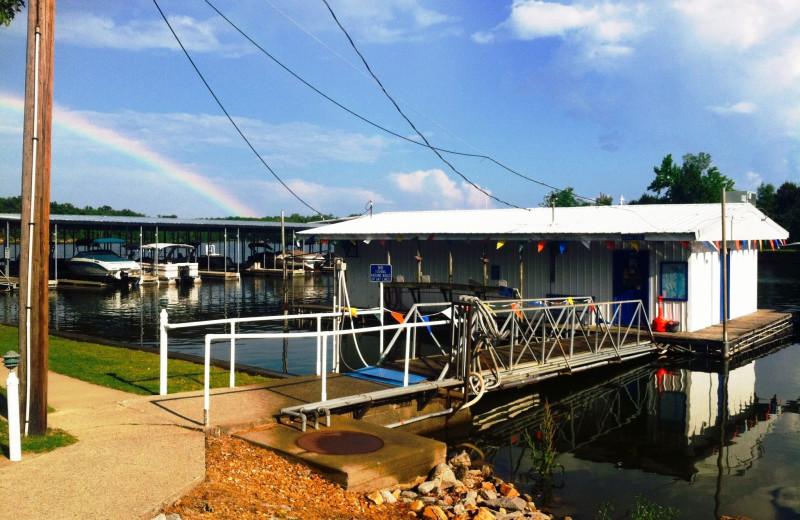 The marina at Big Bear Resort.
