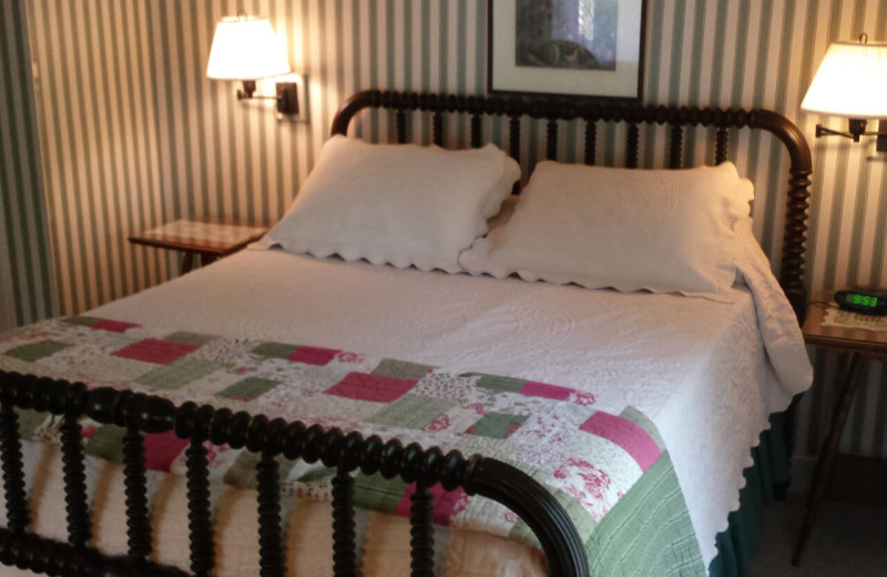 Guest room at Eagles Mere Inn.