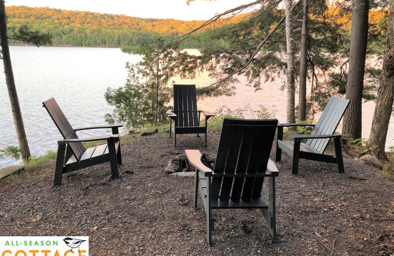 Rental patio at All-Season Cottage Rentals.