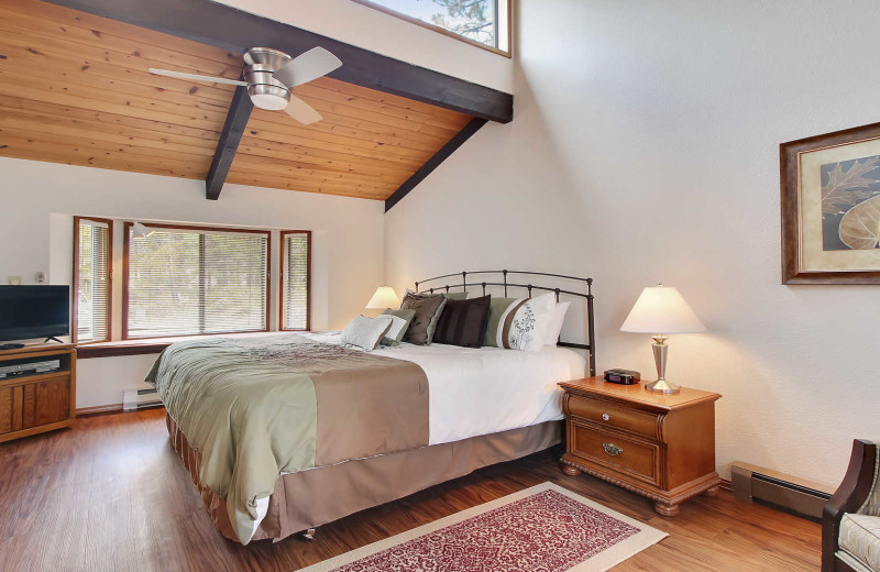 Rental bedroom at Mountain Resort Properties.