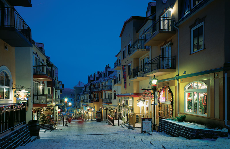 Holiday shopping near Fairmont Tremblant Resort.
