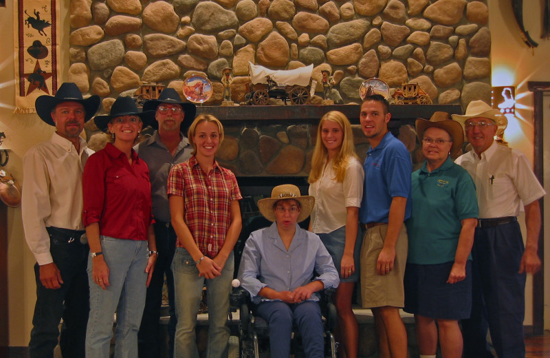 The staff at Stagecoach Trails Guest Ranch.