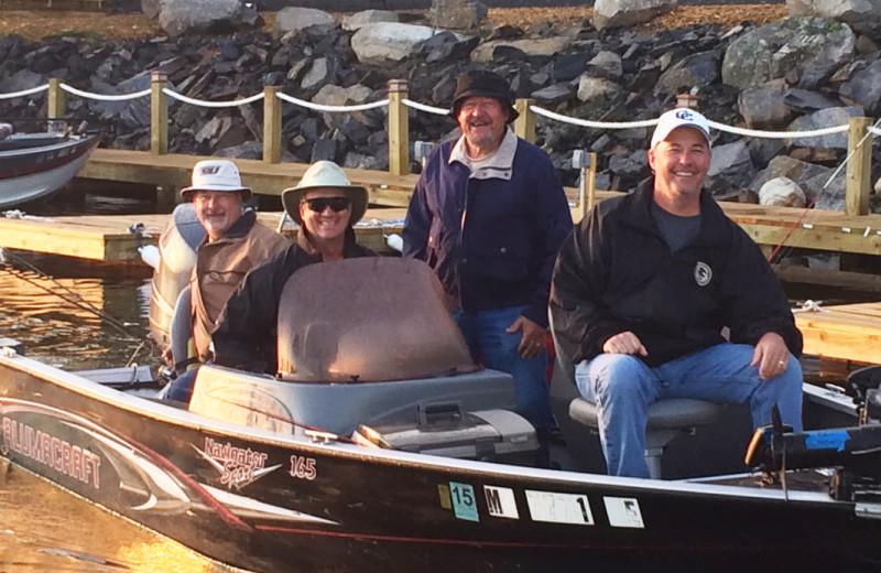 Boating at Driftwood Lodge Resort.