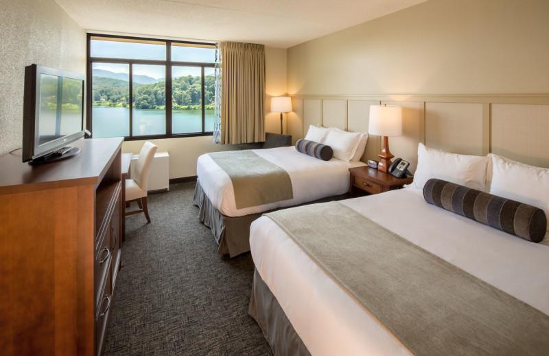 Guest room at The Terrace at Lake Junaluska.