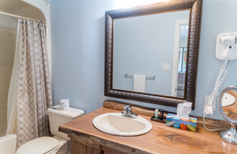 Guest bathroom at Rawley Resort.