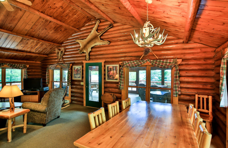 Cabin interior at Northern Lights Resort & Outfitting.