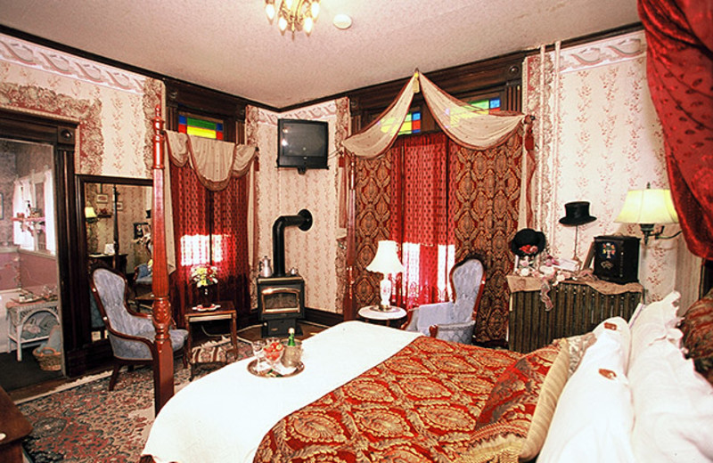 Guest room at Historic Scanlan House B & B.
