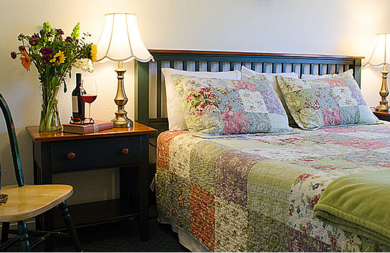 Guest room at Carlin Country Cottages.