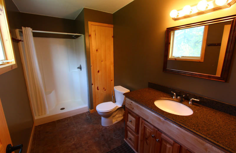 Guest bathroom at Angle Outpost Resort & Conference Center.