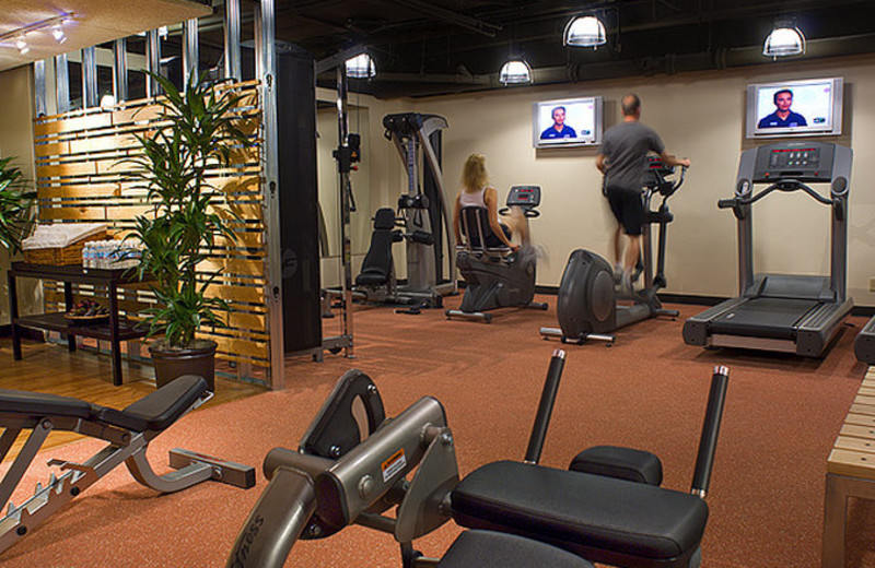 Fitness room at The Sainte Claire, a Larkspur Collection Hotel.