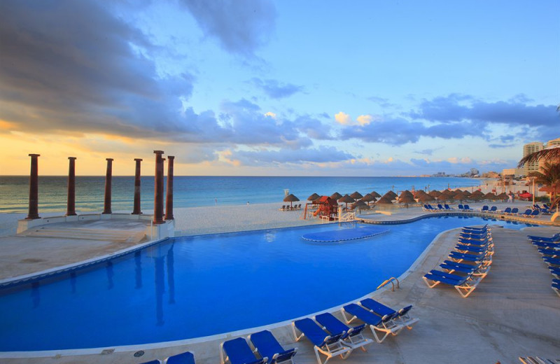 Outdoor pool at Krystal Cancun Hotel.