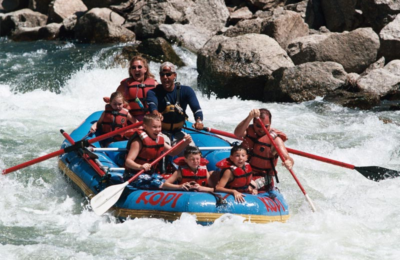 River rafting at Beaver Run Resort & Conference Center.