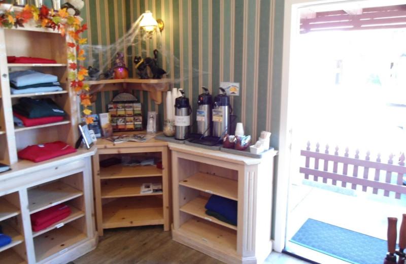 Gift shop at Sea Otter Inn.