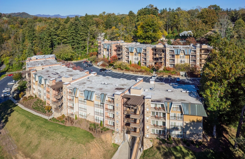 Aerial view of The Residences at Biltmore.