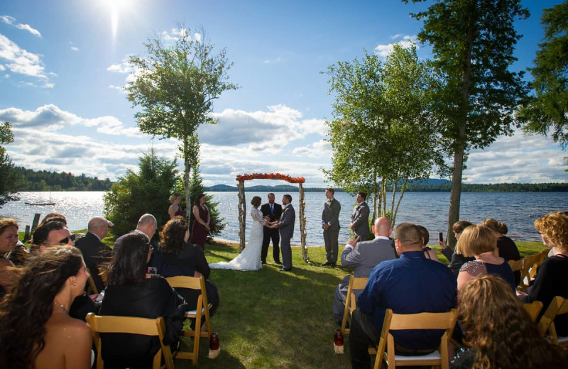 Weddings at Lake Clear Lodge & Retreat.