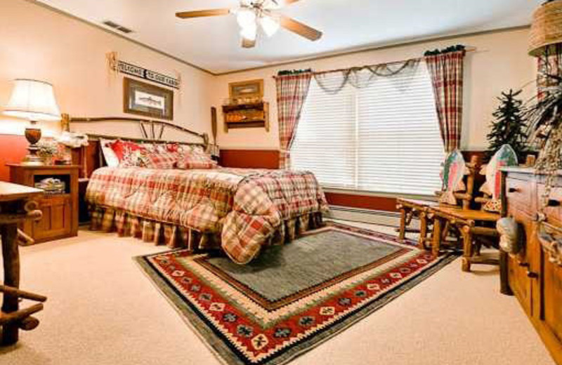 "Guest King size bedroom, ""Charlie's"" at McWilliams River Home."