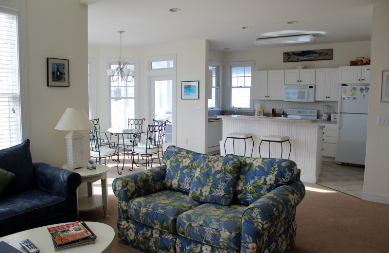 Rental interior at Pirate's Cove Realty.