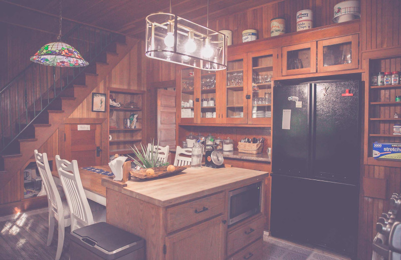 Cabin kitchen at The Hideaway at Xanadu Island.