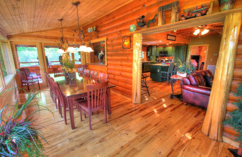 Cabin interior at Oak Haven Resort.