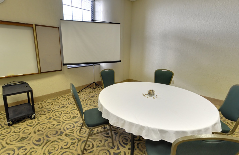 Meeting room at The Suites Hotel at Waterfront Plaza.